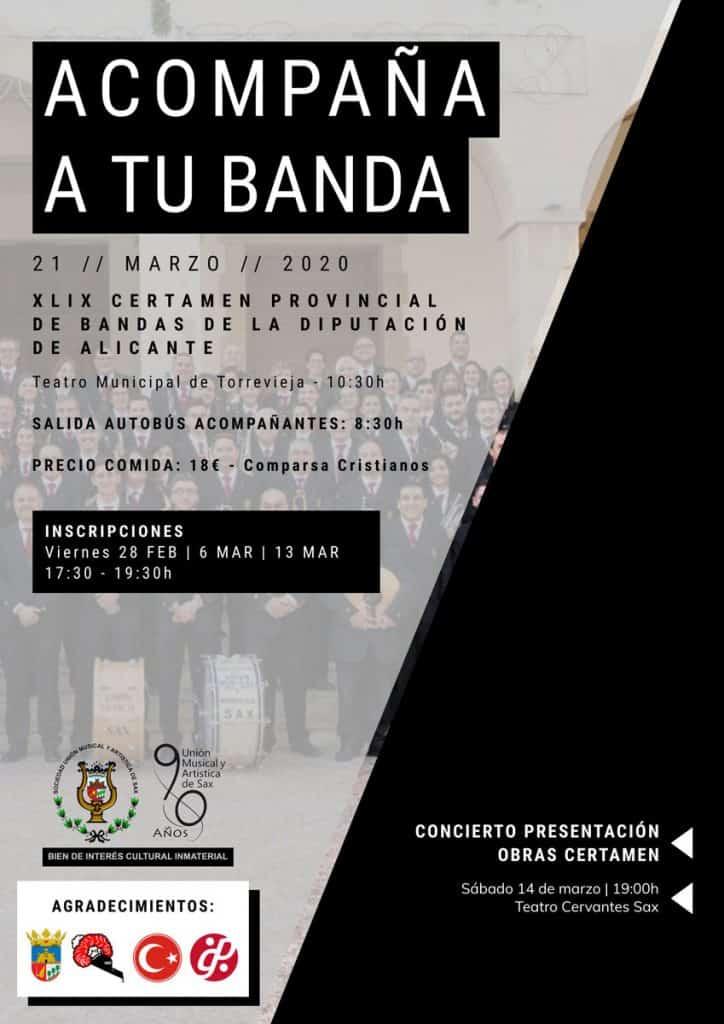 XLIX Certamen Provincial de Bandas de la Diputación de Alicante