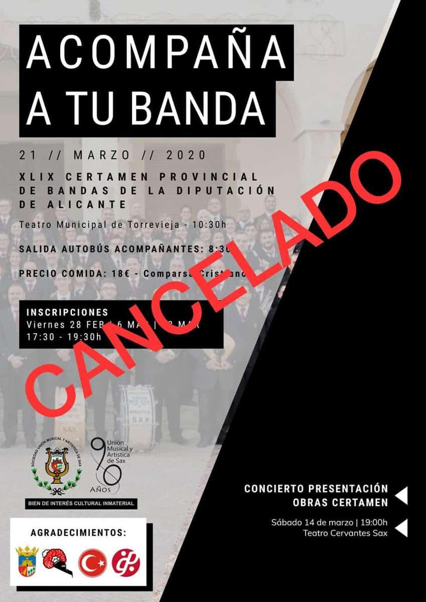 Certamen Provincial 2020 cancelado