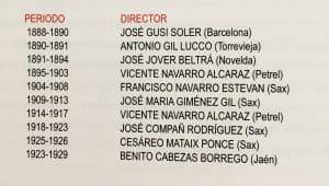 Directores de La Moderna