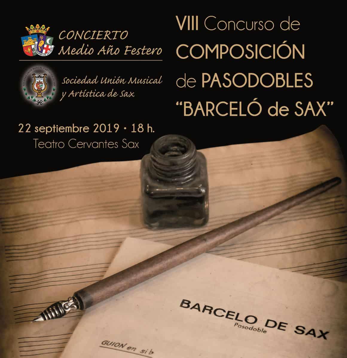 """VIII Concurso de composición de Pasodobles """"Barceló de Sax"""""""
