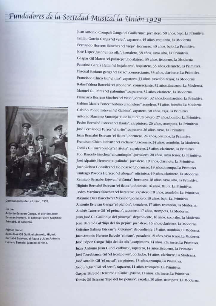 Fundadores de La Unión 1929