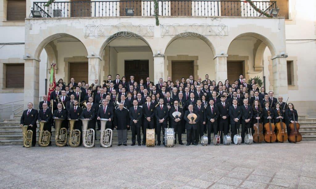 Unión Musical de Sax en ayuntamiento de Sax